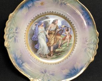 Rare German Orpheus and Eurydice Bowl
