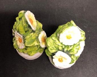 "3-1/2"" Lefton Floral Topiary Salt & Pepper Shakers"