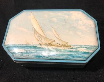 Sailboat Blue Boy Rum & Butter Toffee Tin