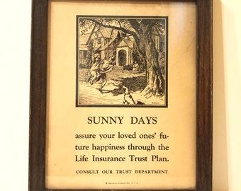 Framed Advertising Sunny Days