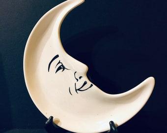 Creative Coop Smiling Hal-Moon Plate