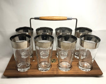 Dorothy Thorpe? Silvered Beverages in Walnut Caddy