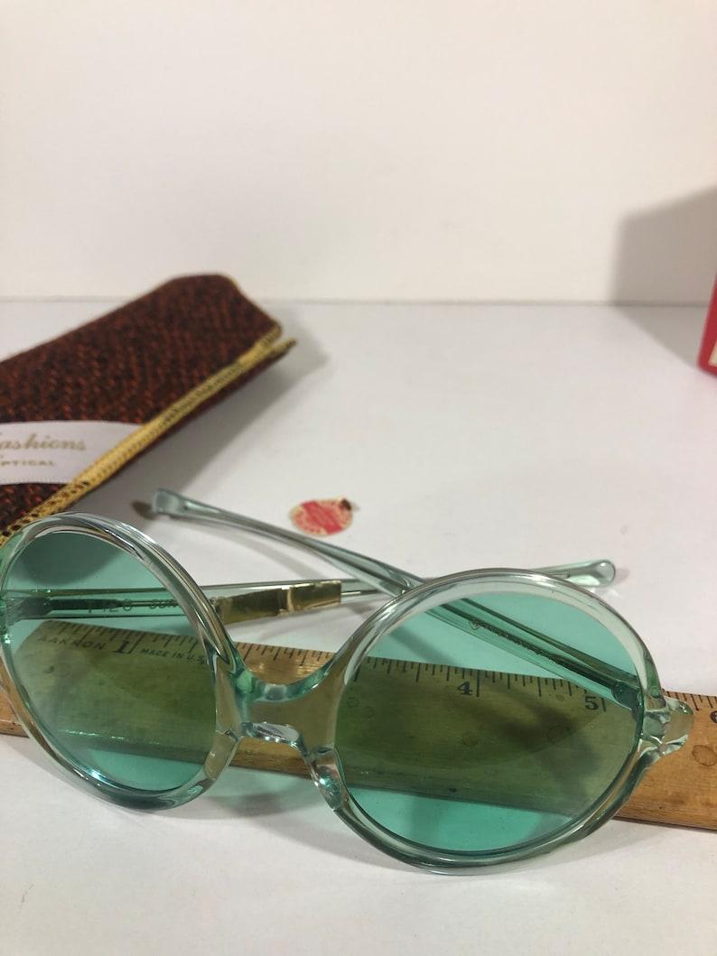 Vintage American Optical, Tinolite, Sunvogues Green-tint Sunglasses