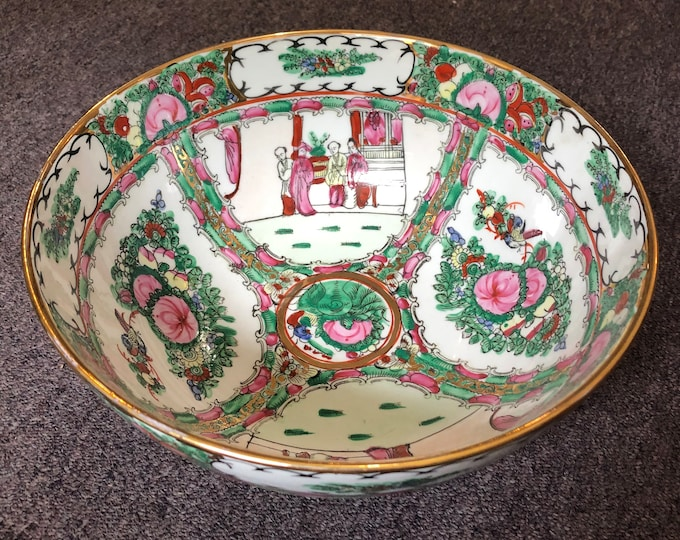 Featured listing image: Vintage Qianlong, Qing Style Chinese Famille Rose Medallion Bowl