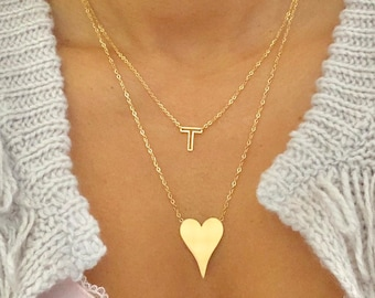 heart necklace large small heart bridesmaid wedding sale bestseller gold today love designer hoda kelly christmas tik tok Mother's Day demi
