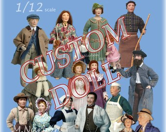 your CUSTOM DOLL 1:12 porcelain doll to order