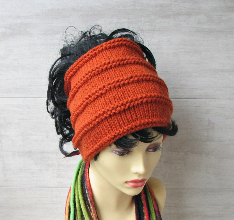 455a919ce34d8 Knitted tube hat African head wraps hair style headbands for