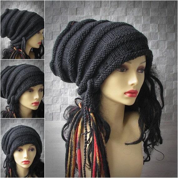 Unisex Loc Cap Dreadlock Stocking Cap Rasta Turban Hat Dread  e689c8013ce