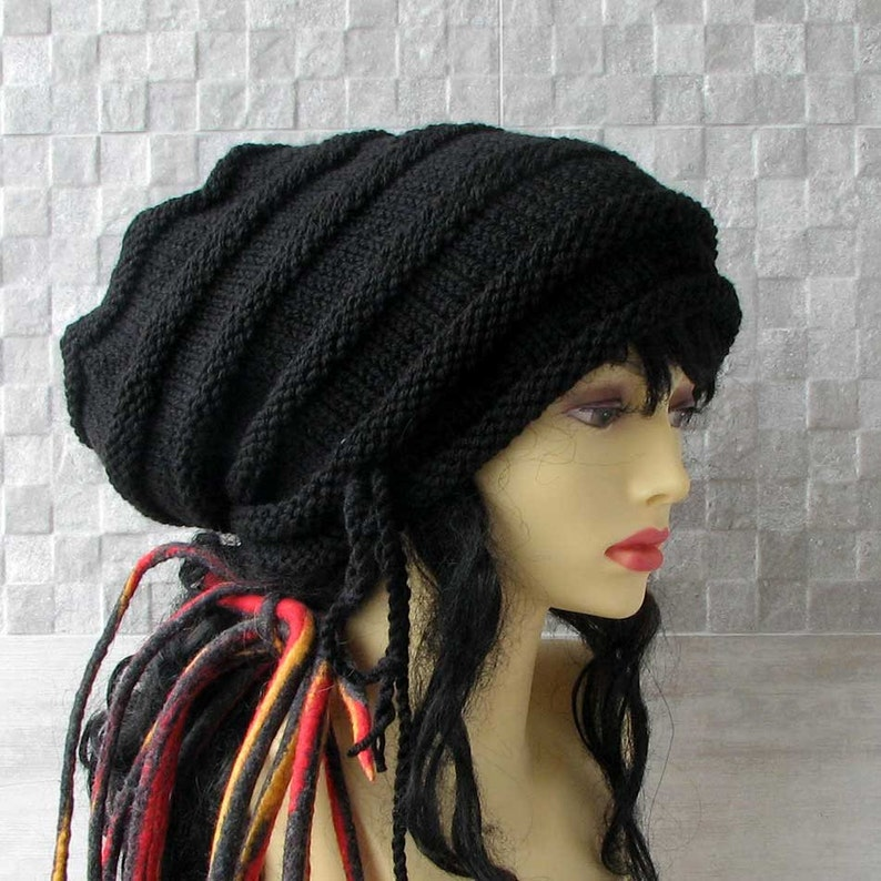 7fae6a987dacd Unisex large hats for dreadlocks Tam cap hat with drawstring