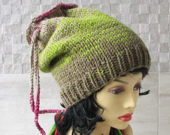 Dread Hat Dreads Accessory  Colorful Dreadlock tube hat, dreadlock headband, Tam Hat wide dread wrap, Dreadband handmade