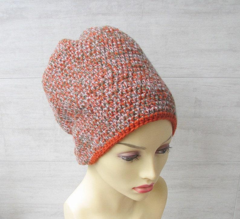 1e7bdd57579 Baggy long slouchy beanie Colorful dread hat Crochet