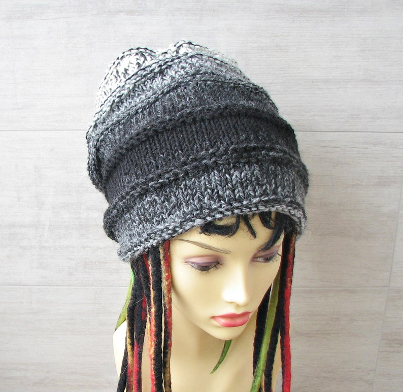 Dreadlocks accessory dreadlock beanie hat black melange  8818fcca0fd5