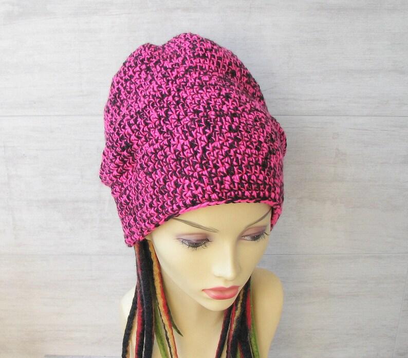 57d01d28be9 Crochet dreadlock hat long slouchy beanie winter cap in boho