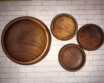 Goodwood Genuine Teak 5 Piece Salad Bowl Set #1085 Latest Technology Bowls