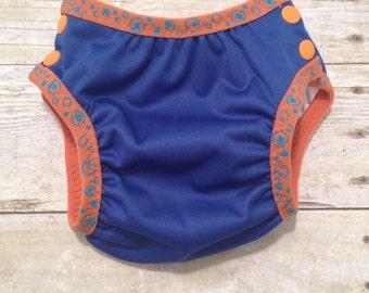Swim diaper / Diaper cover - Medium/ blue