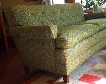 Mid Century Sofa Love Seat Green Nubby Fabric 50s 60s Eames Era Decor True  Vintage Excellent Condition Local Pick Up Only