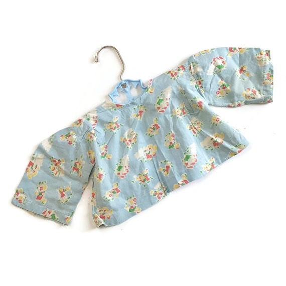 Vintage Baby Jacket Feed Sack Flour Sack Gardenin… - image 2