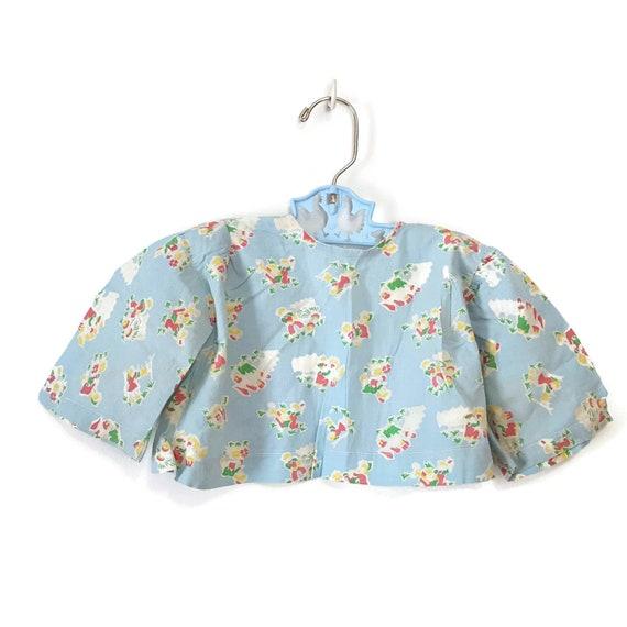 Vintage Baby Jacket Feed Sack Flour Sack Gardenin… - image 6