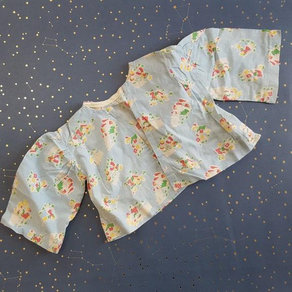 Vintage Baby Jacket Feed Sack Flour Sack Gardenin… - image 3