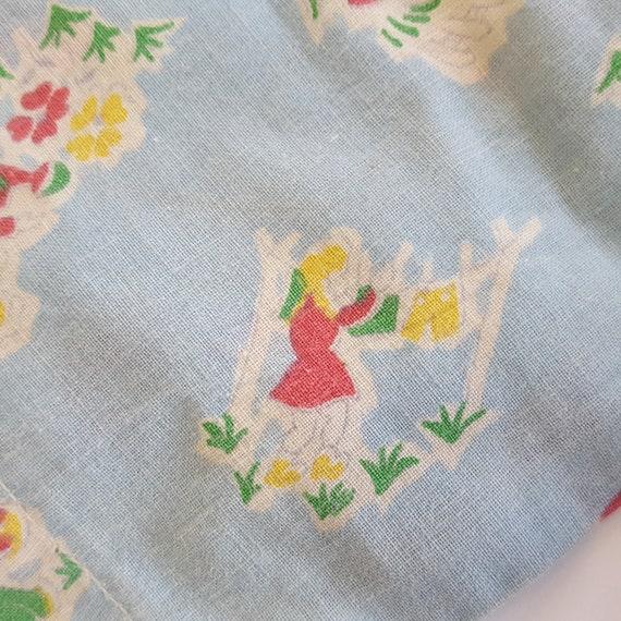 Vintage Baby Jacket Feed Sack Flour Sack Gardenin… - image 7