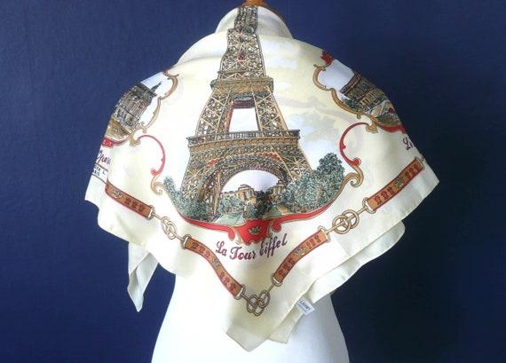Paris souvenir scarf - vintage LAHMY souvenir scar