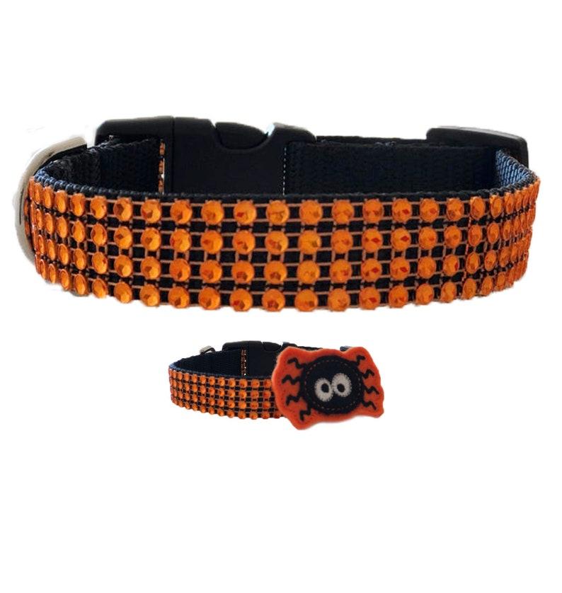 Halloween Bling Rhinestone Dog Collar