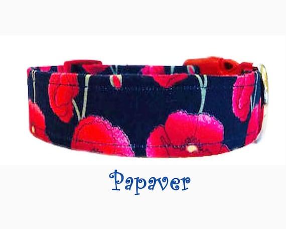 Poppy metal side release dog collar