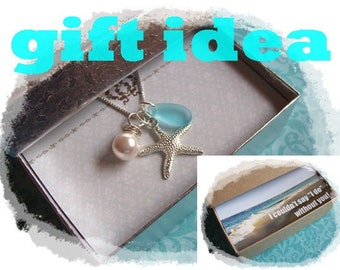 STARFISH NECKLACE - Starfish JEWELRY Necklace, Starfish Necklace, Beach Wedding Jewelry, Beach Bridesmaid Gift,  Starfish Jewelry Necklace