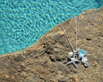 BEACH BRIDESMAID JEWELRY, Starfish Necklace, Beach Wedding Jewelry, Bridesmaid Jewelry Gift, Starfish Necklace, Beach Bridal Party Jewelry