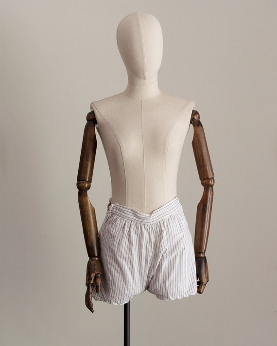 1930s Striped Cotton Shorts | High Rise Shorts | … - image 2