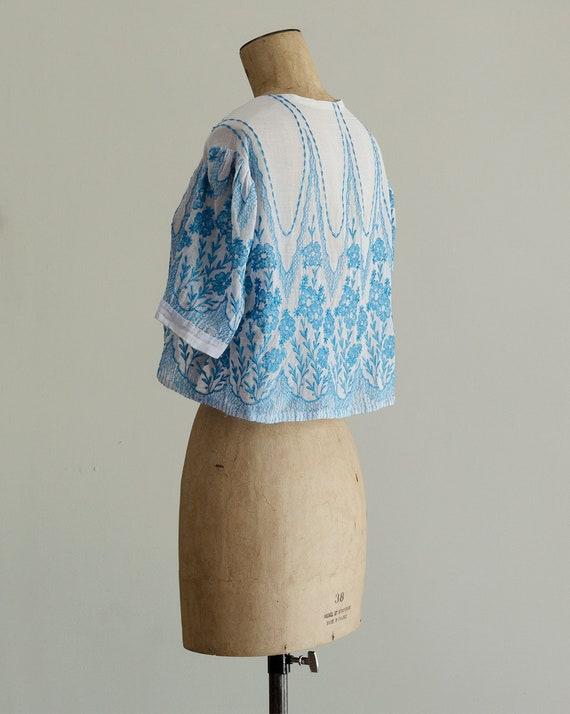 Embroidered 30s Bolero | 1930s Jacket | Sheer Sil… - image 5