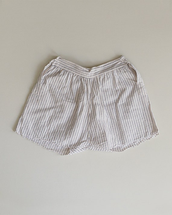 1930s Striped Cotton Shorts | High Rise Shorts | … - image 6