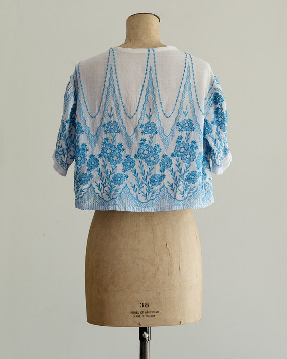Embroidered 30s Bolero | 1930s Jacket | Sheer Sil… - image 6