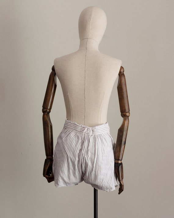 1930s Striped Cotton Shorts | High Rise Shorts | … - image 5