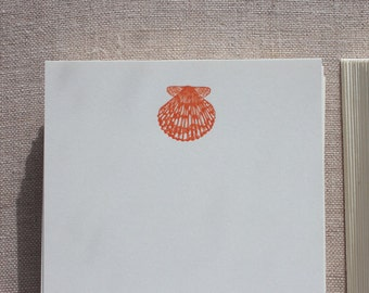 Flat Card Set with Letterpress Shell (vertical)