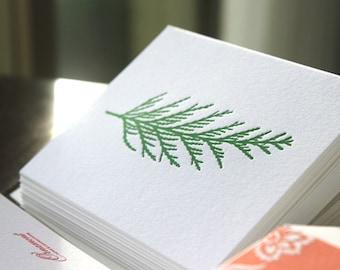 Cedar Pine Letterpress Card Set