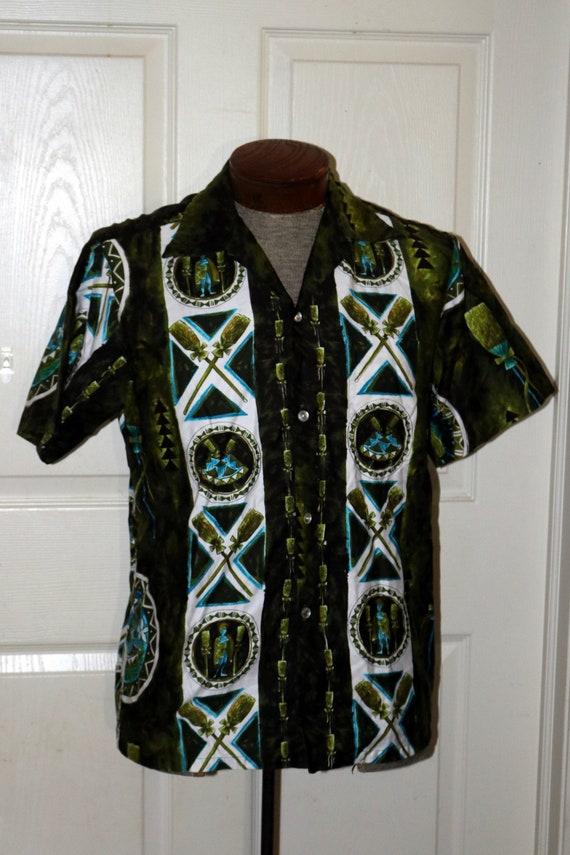 Vintage 1960s Hawaiian Shirt by Tropicana  - Mens
