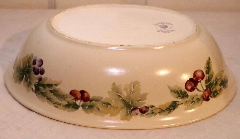 Pfaltzgraff Jamberry Oval Serving Bowl