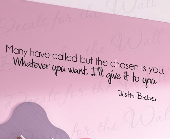 Justin Bieber One Time Girl Room Kids Lyrics Song Wall Decal   Etsy