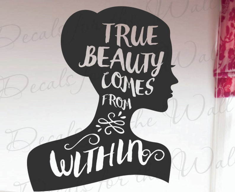True Beauty Comes From Within Confidence Inspirational Self Etsy