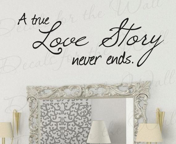 Dormitorio Grande De Pared citar cada historia de amor nuestro favorito pegatina transferencia calcomanía
