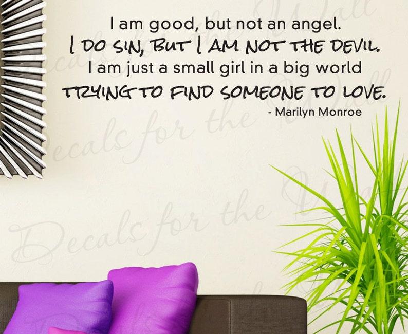 Marilyn Monroe Girl Wall Decal Vinyl Art Sticker Decor Inspirational Saying J77