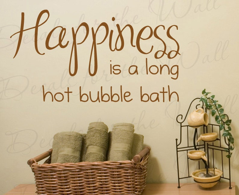 Happiness Long Hot Bubble Bath Bathroom Kid Baby Quote Decal Etsy