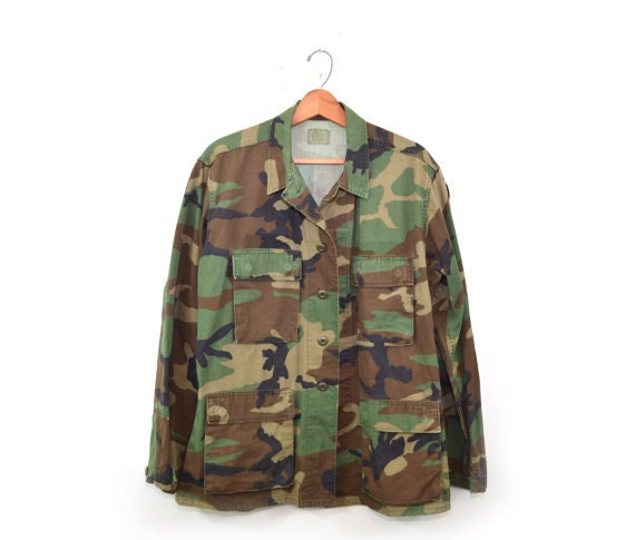 Woodland Camo Jacket Camo Shirt Army Jacket Army … - image 1