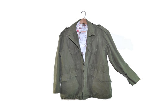 Vintage Army Jacket Green Army Field Jacket Army C