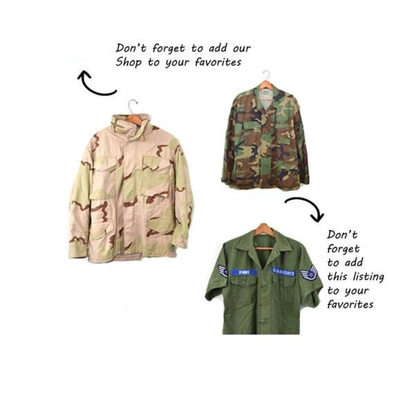 Camo Jacket Camo Shirt Army Jacket Army Shirt Cam… - image 5
