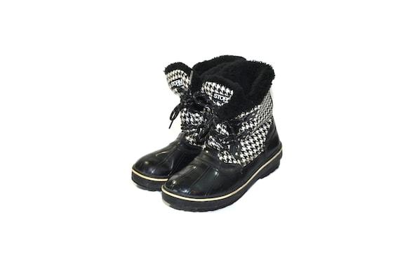 Vintage Black Rain Boots Insulated Rain Boots Duck