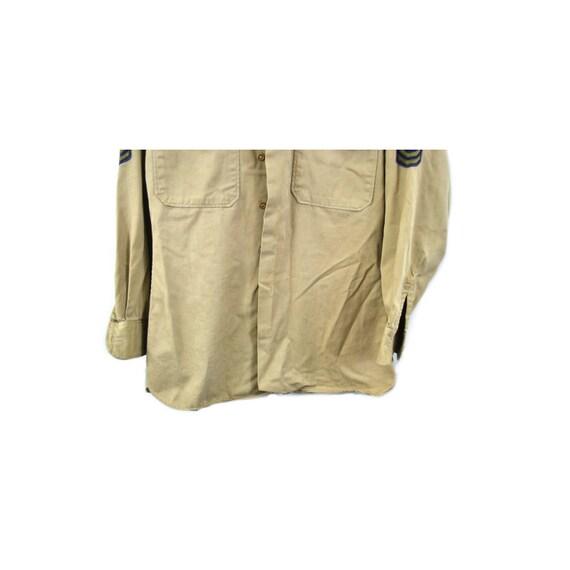 Vintage Army Shirt Khaki Army Shirt 7th Army Patc… - image 5