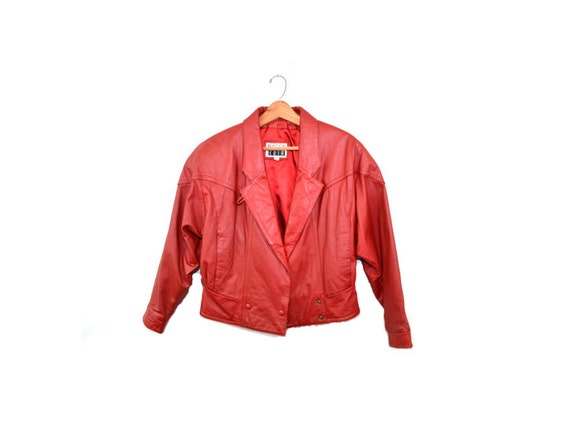 Vintage Red Leather Jacket Red Leather Motorcycle