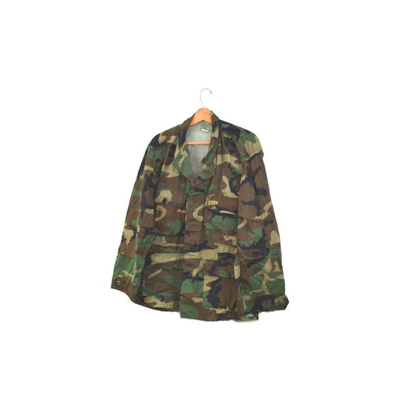 Camo Jacket Camo Shirt Army Jacket Army Shirt Cam… - image 3
